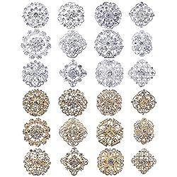 Rhinestone Crystal Flower Brooches