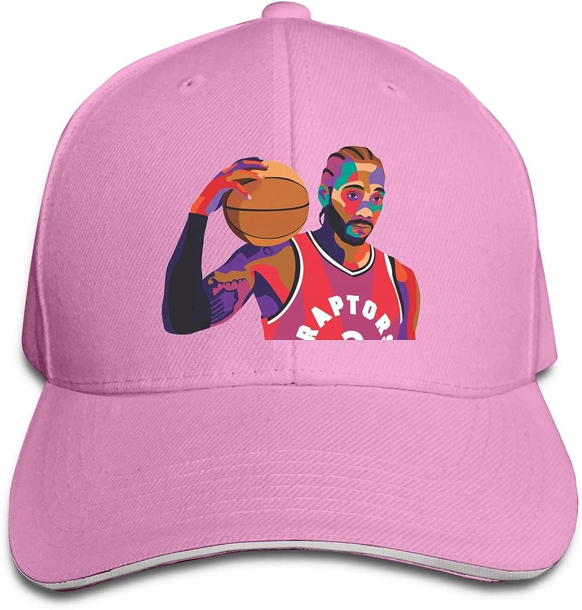 Haggai Romeo Unisex Leonard-Kawhi Poster Snapback Baseball Cap Flat Brim Hip Hop Hat Adjustable Dad Hat