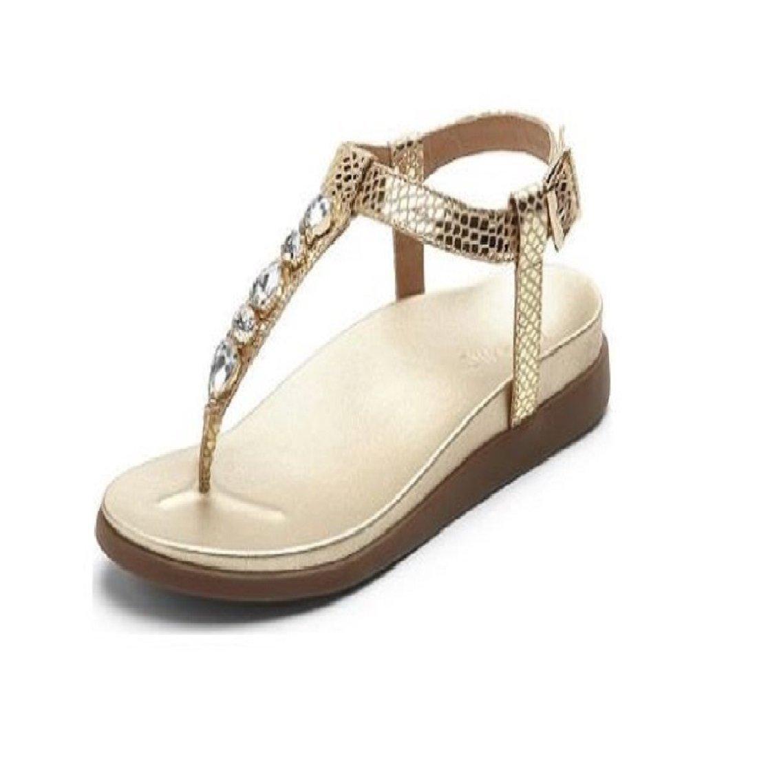 Vionic Palm Boca- Womens Sandal Gold Snake - 8 Medium