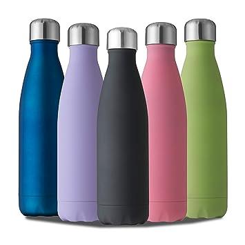 Amazon.com: Chelii Botella de agua de acero inoxidable con ...