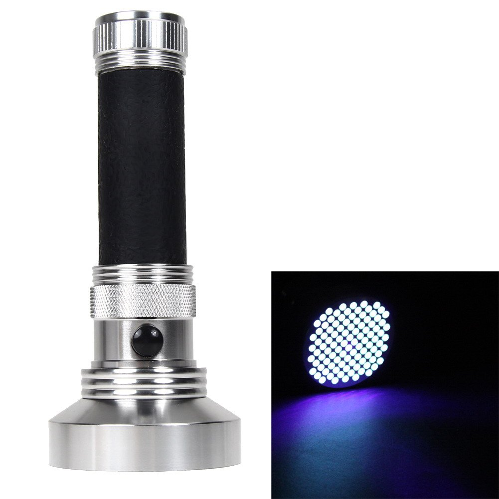 TTnight Portable Aluminum Mini UV Ultra Violet 100pcs LED Flashlight Torch Light Handheld Light