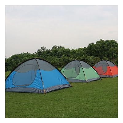 3-4 personnes tente de camping en plein air double pluie camping en plein air 2.5 kg, 280 * 210 * 110cm, rouge, bleu, vert