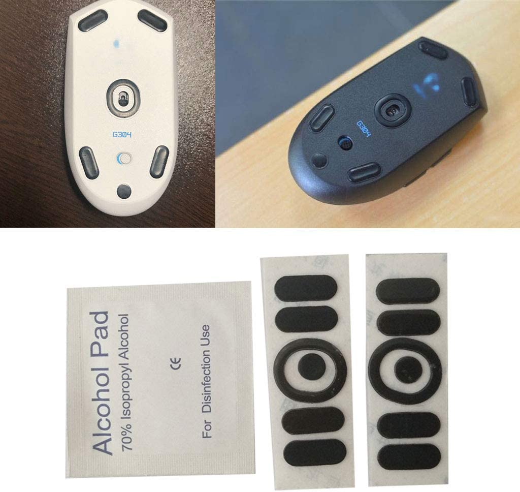 Baiko 2Pcs Replace Mouse Feet Mouse Skates Mice Feet Compatible with Logitech G304 G305 Mouse