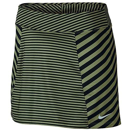 NIKE Precision Knit Print 2.0 Golf Skort 2017 Women Palm Green/Black/Metallic Silver Small