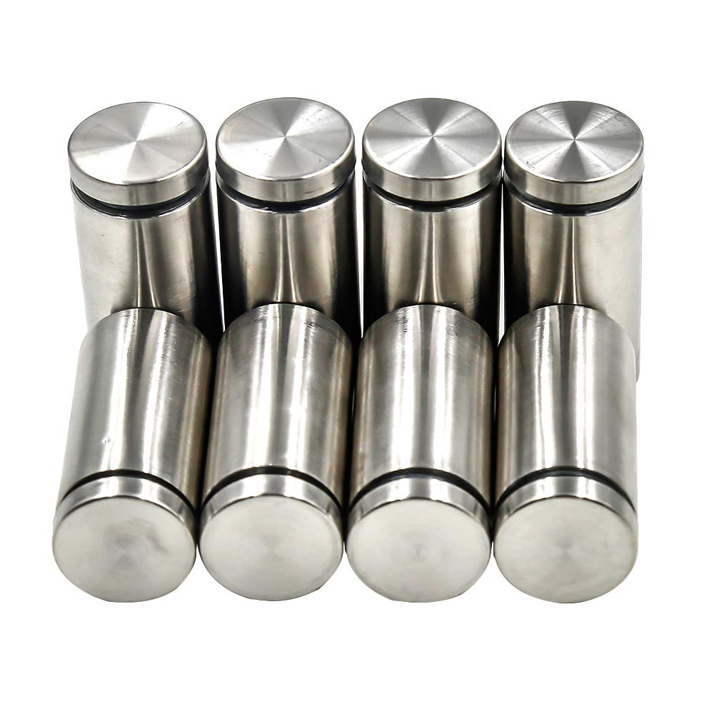 Yoohey 25 x 52mm Stainless Steel Glass Standoff Hardware Mount Bolt Clamp 8pcs