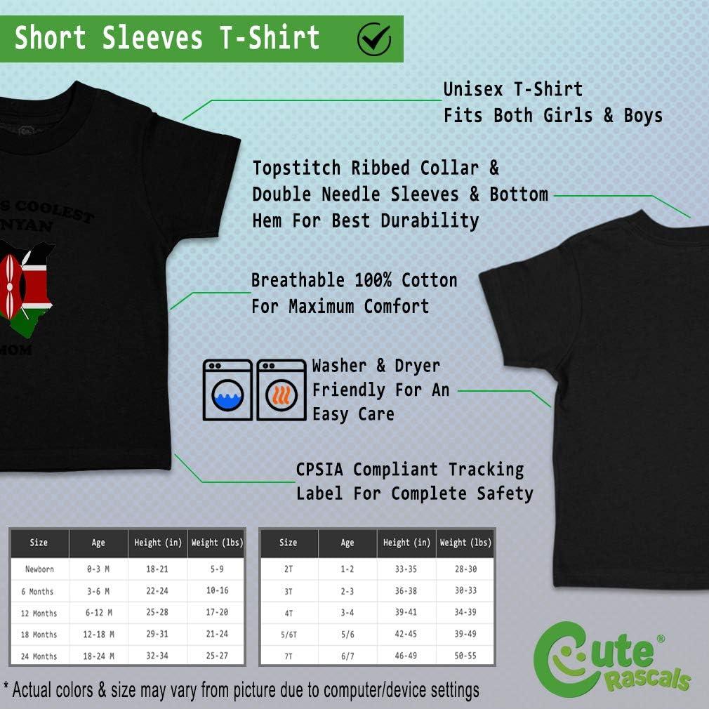 Custom Baby /& Toddler T-Shirt Worlds Coolest Kenyan Mom Cotton Boy Girl Clothes