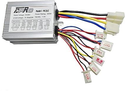 brush dc motor controller wiring diagram amazon com jcmoto 36v 36 volt 500w motor brush speed controller  jcmoto 36v 36 volt 500w motor