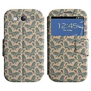 LEOCASE mariposas bonitas Funda Carcasa Cuero Tapa Case Para Samsung Galaxy S3 I9300 No.1005780