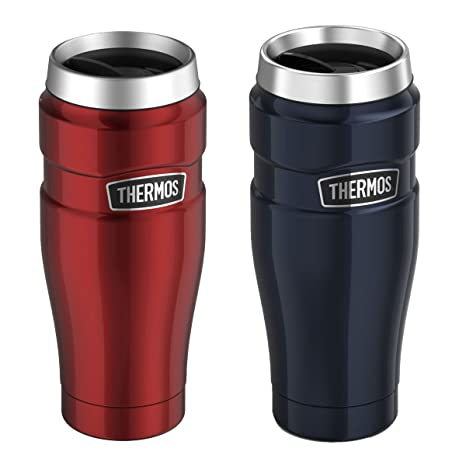 057ea3d3b16 Image Unavailable. Image not available for. Color: Genuine Thermos Brand Stainless  King Vacuum Insulated Stainless Steel Travel Tumbler 16oz ...