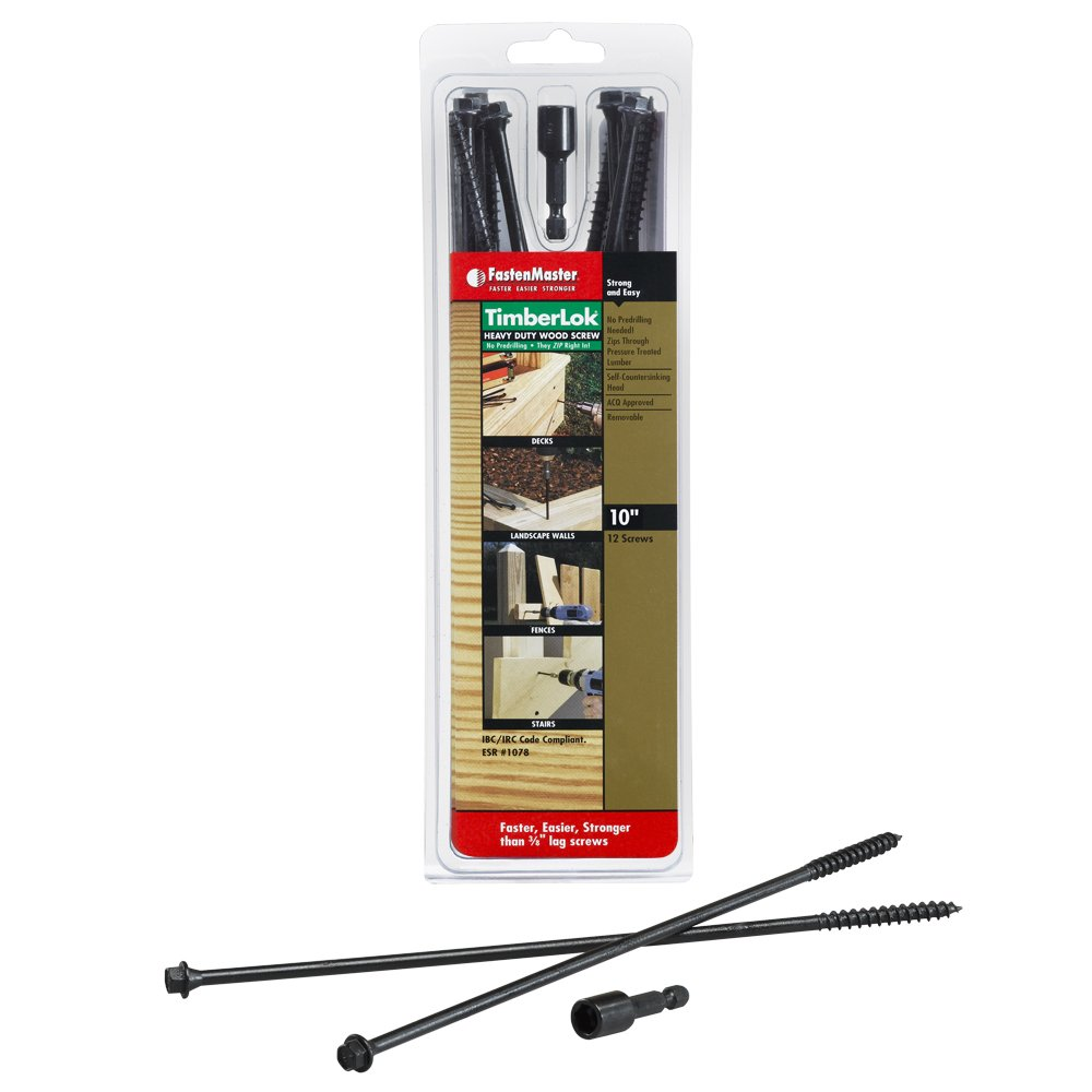 8 Inches FastenMaster FMTLOK08-12 TimberLOK Heavy-Duty Wood Screw 12-Count