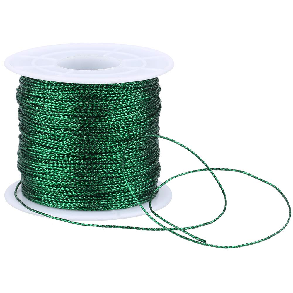Spool Gold String Metallic Cord Tinsel String Craft Making Cord for Wrapping,Hair Braiding and Craft Making 100 Meters// 109 Yards-1mm