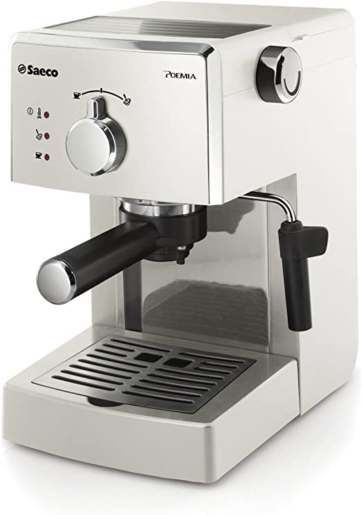 Saeco HD8423/28 - Cafetera de espresso manual, color blanco ...