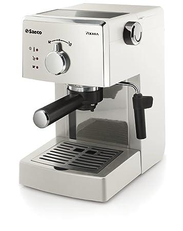 Saeco Poemia - Cafetera espresso manual, para café molido y monodosis ESE, 950 W, color blanco (importada)