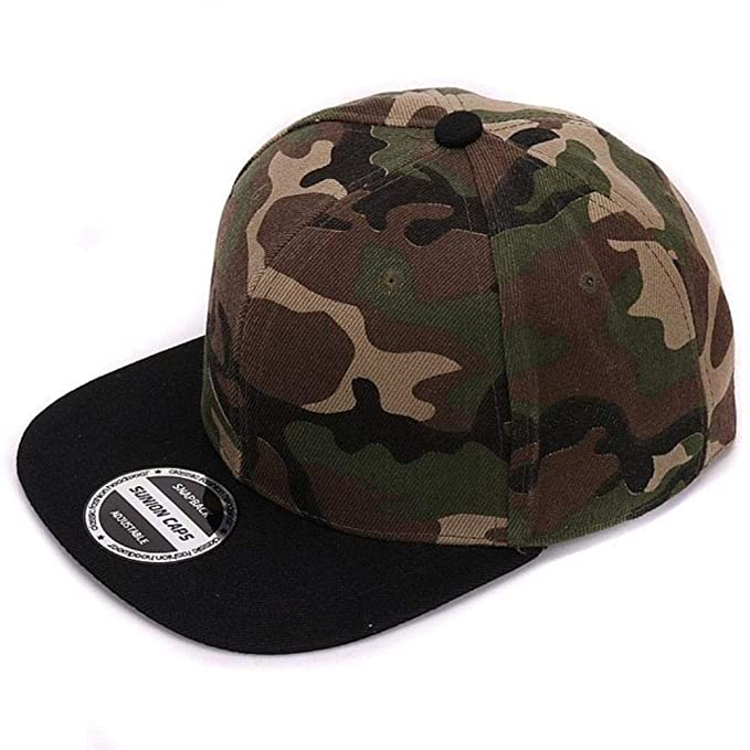 Camouflage Snapback Polyester Cap Blank Flat camo Baseball Cap with no Embroidery Mens Cap and hat