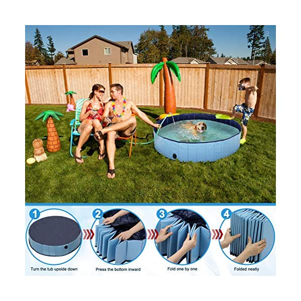 Winipet Foldable Dog Paddling Pool 3