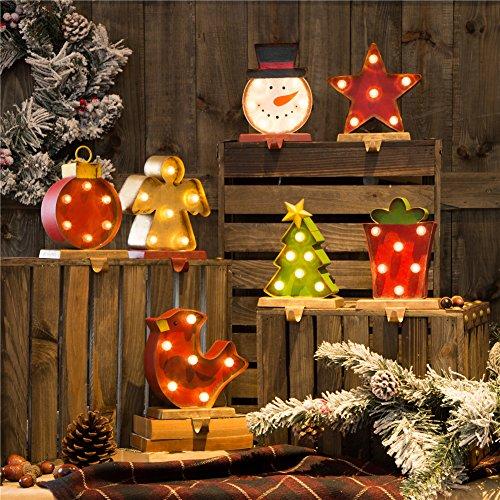 Glitzhome Marquee LED Tree Stocking Holder JK30431B