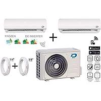 """Diloc Frozen Climatiseur Inverter Double Gaz R32 Compresseur Sharp D.FROZEN240 (9+12) D.FROZEN9 + D.FROZEN12) + Tubes Cuivre Couple 1/4"""" + 3/8"""""""