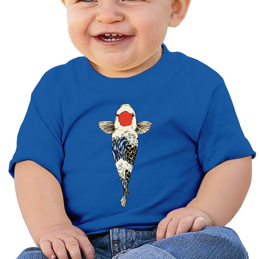 The Great Wave Off Koi Cotton Short Sleeve T Shirts for Baby Toddler Infant