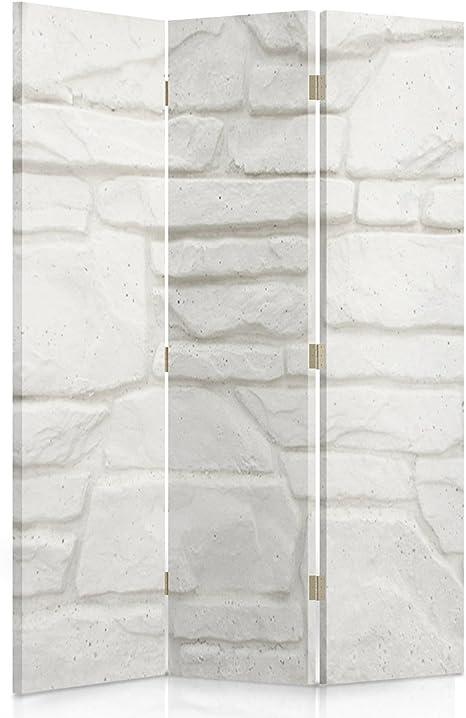 Uccelli 110x150 cm Rosa a 3 Parti Francia Fiori Vintage Grigio unilaterale Feeby Frames Il paravento Stampato su Telo,Il divisorio Decorativo per Locali