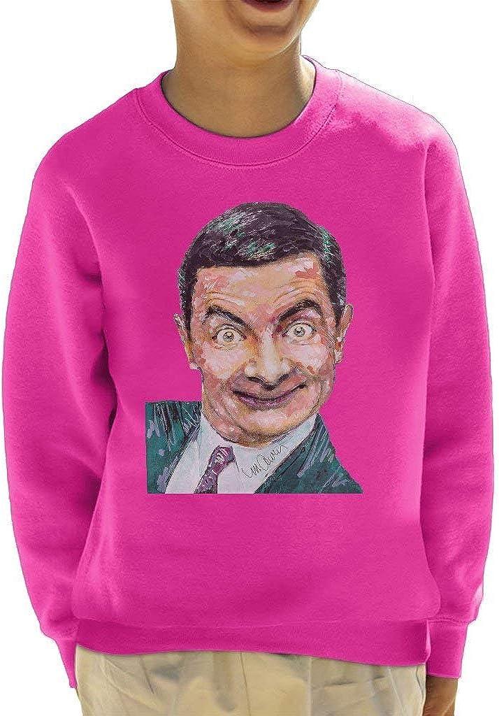 VINTRO Mr Bean Rowan Atkinson Kids Sweatshirt Original Portrait by Sidney Maurer Professionally Printed