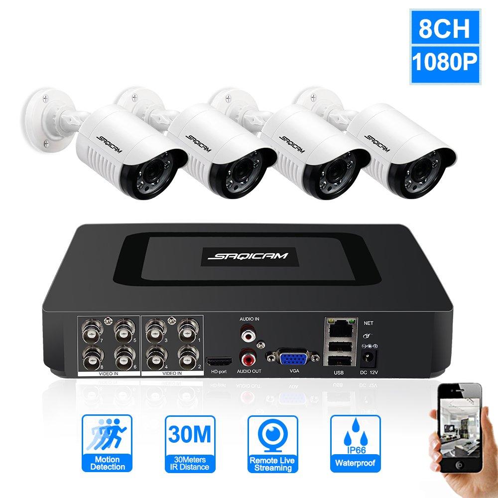 【予約販売品】 SAQICAM 8Ch Ahdh 1080N Dvr Dvr Cctvカメラシステム監視キット4個1080Pホームセキュリティデイ 1080N SAQICAM/ナイト防水屋外カメラIp66、電子メールアラート、動き検出、防水ボディ、モバイルアプリケーション:Xmeye B07CW8CZJZ, くすりのエンジェル:95926e41 --- martinemoeykens-com.access.secure-ssl-servers.info