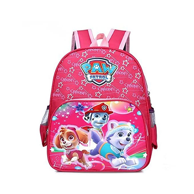 11a06cee0ad8 YOURNELO Kid s Cartoon 3D Paw Patrol Backpack Preschool School Bag (B Pink)