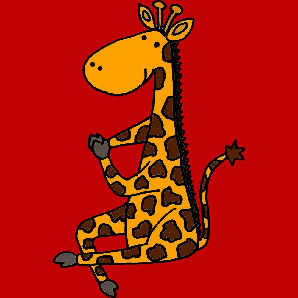 Cool Funny Artistic Giraffe doing Yoga Mens Graphic Tank Top