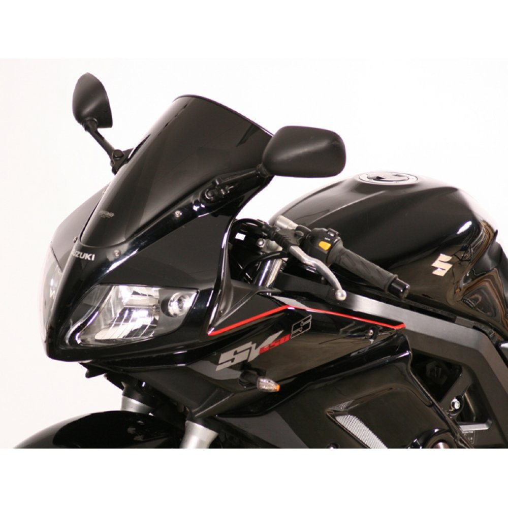 Cupula MRA Originale negro SUZUKI SV 650 S 03, SUZUKI SV 1000 S 03- Pantallas de forma Original: La forma y el tamañ o corresponden a la pantalla Original. EAN / nú m. de pedido.: 4025066085309 Color: negro longitud: 360 mm