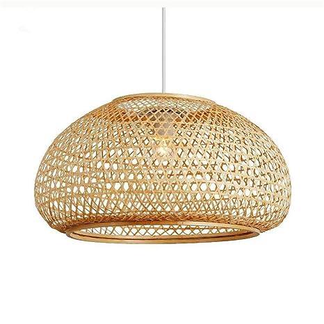 Araña Iluminación Colgante Luz Lámpara Ronda Bamboo Wicker ...