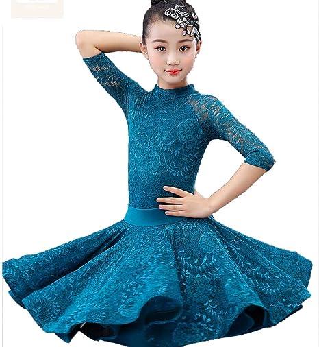 Falda de Baile Latino para niñas Salón de Baile Faldas de Tango ...