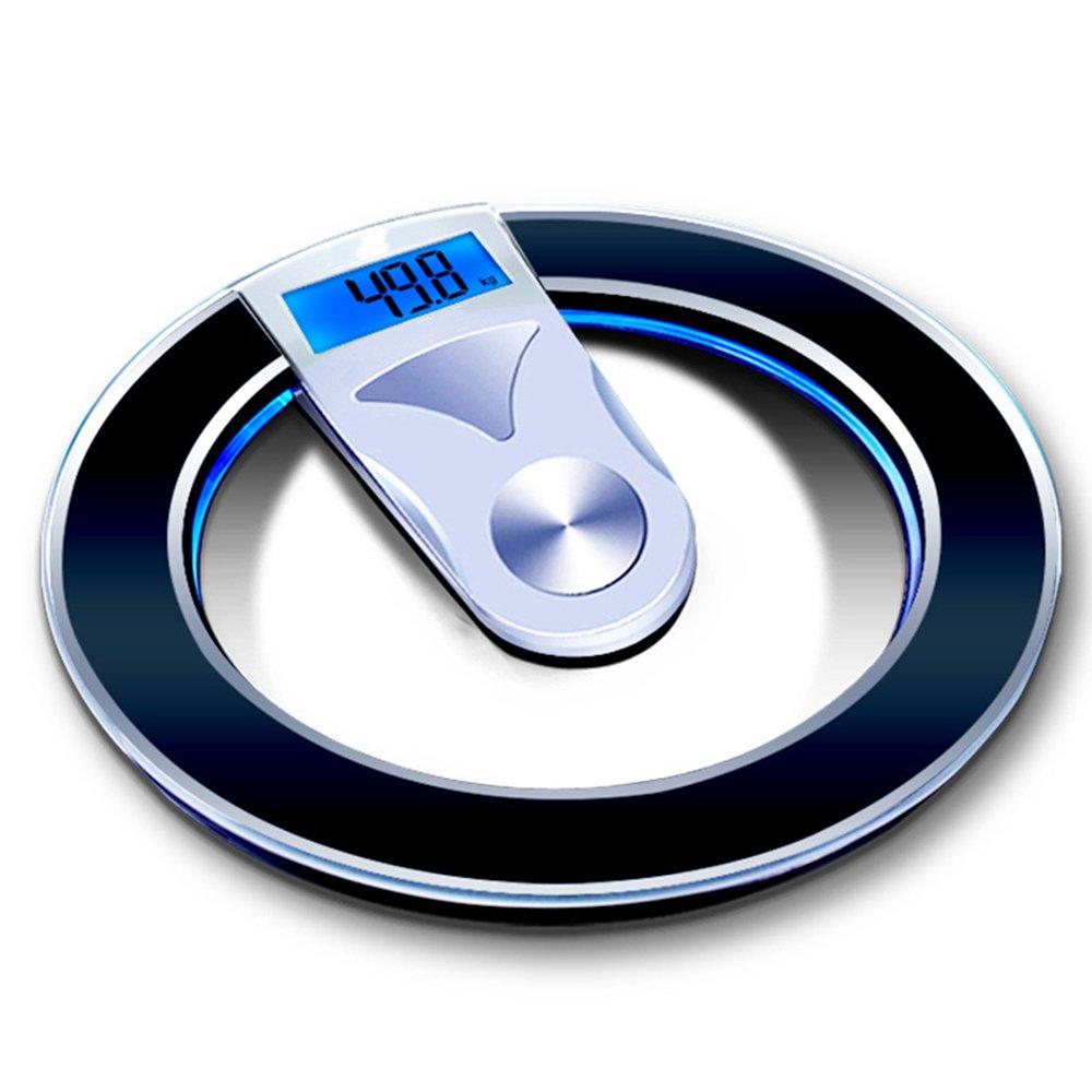 LVZAIXI 電子秤量計量秤量計量秤量家庭用健康秤丸型スケールLCDグローディスプレイ耐力160KG ( 色 : ブラック ) B07CG5XM9X ブラック