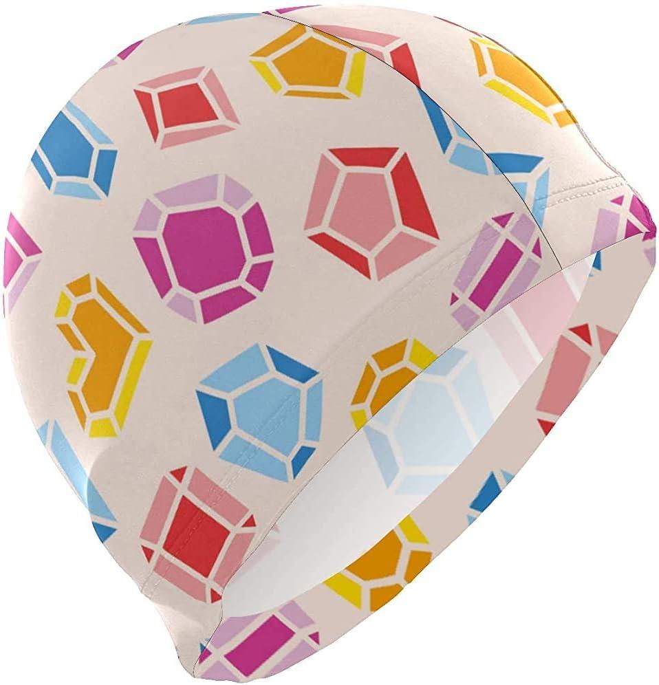 Gorros de baño Joyas de Piedras Preciosas de Diamantes Patrón de corazón Gorro de baño Sombrero Baño Ducha Ducha Cubierta del Cabello