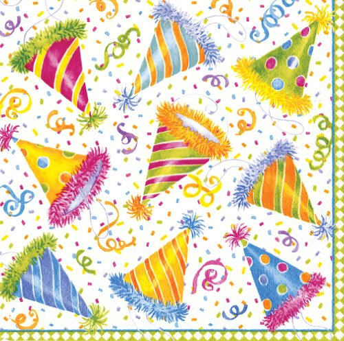 Entertaining with Caspari Hats off Paper Luncheon Napkins, Pack of 20 ()