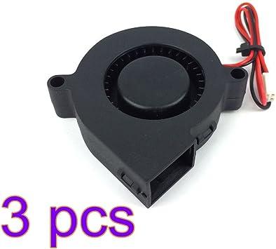 UEETEK Impresora 3D de 3 Pcs 12V DC que sopla el ventilador para ...