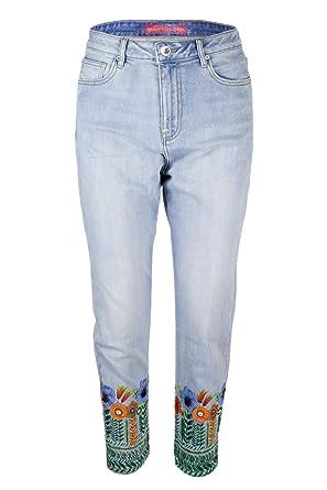 W28 19swdd18 Femme Copenhagen Desigual Denim Flowers Jeans wRTqqAY