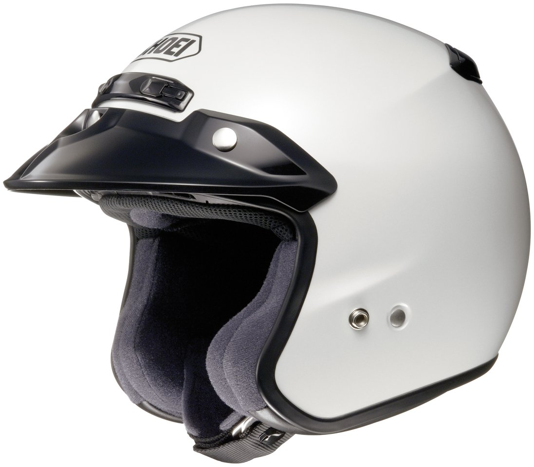 Shoei RJ Air Platinum R Open-face Helmet - Small/Crystal White