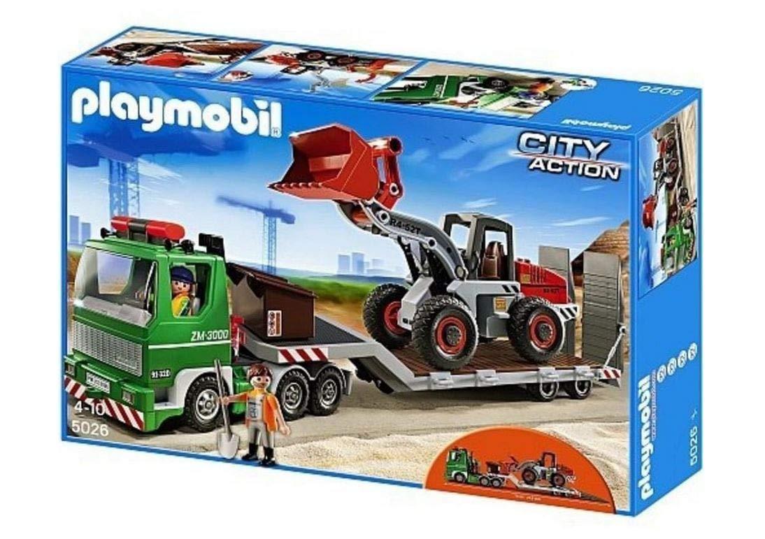 Lederstyle Playmobil City Action 5026 , Tieflader mit Radlader