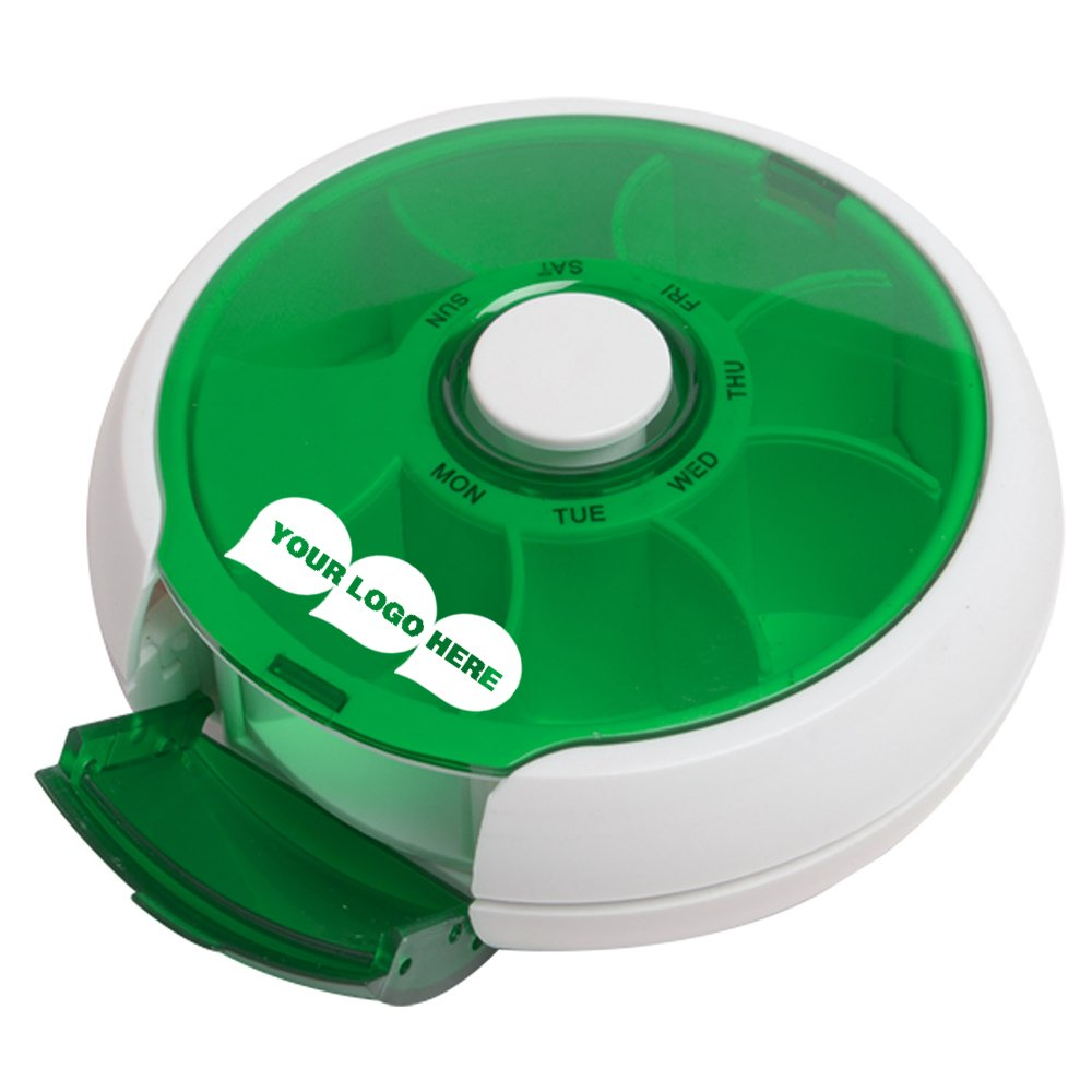 Push-it™ Pill Dispenser - 150 Quantity - $2.35 Each - PROMOTIONAL PRODUCT / BULK / BRANDED with YOUR LOGO / CUSTOMIZED