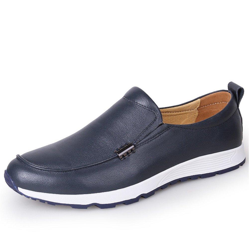 Sunny&Baby Conducción de los Hombres Penny Holgazanes Vagabundo Vamp Slip-on Casual Mocasines de Bote Soft Rubber Sole Athletic Shoes Antideslizante (Color : Armada, Tamaño : 41 EU) 41 EU|Armada