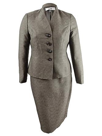 Le Suit Mujer Conjunto Traje-Falda - Verde - 46: Amazon.es: Ropa y ...