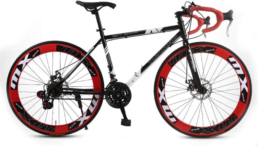 GPAN Bikes Bicicleta de Carretera,24 Velocidades,26 Pulgadas 85% ensamblado,Doble Freno Disco, para Altura: 160-185 cm,Red: Amazon.es: Deportes y aire libre