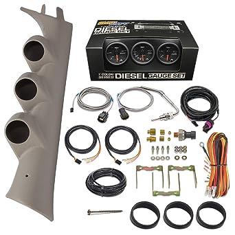 Amazon.com: GlowShift Diesel Gauge Package for 2007-2013 Chevrolet  Silverado Duramax & GMC Sierra - Black 7 Color 60 PSI Boost, 1500 F EGT &  30 PSI Fuel Pressure Gauges - Color Matched | Chevrolet Silverado Lmm Fuel Gauge Wiring |  | Amazon
