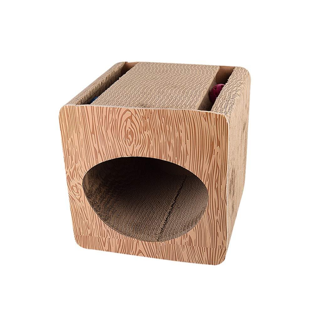 North cool Cat Scratch Board, Cat Toy High Density Corrugated Paper Cat Sofa Cat Scraper Claw Device with Bell Pet Cat Supplies