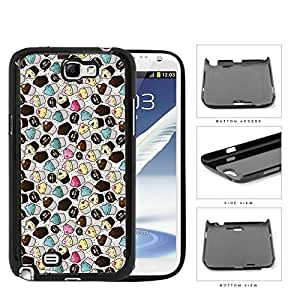 Assorted Cupcakes And Crumbs Hard Plastic Snap On Cell Phone Case Samsung Galaxy Note 2 II N7100