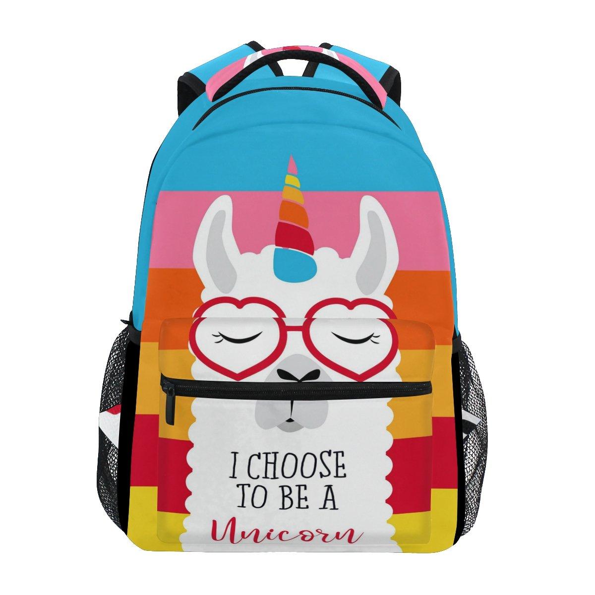 0f60a3ab170 Amazon.com  WXLIFE Rainbow Glitter Galaxy Unicorn Backpack Travel School  Shoulder Bag for Kids Boys Girls Women Men  Computers   Accessories