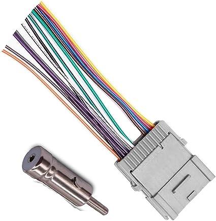 amazon.com: stereo audio radio wiring harness for buick chevy gmc pontiac:  car electronics  amazon.com