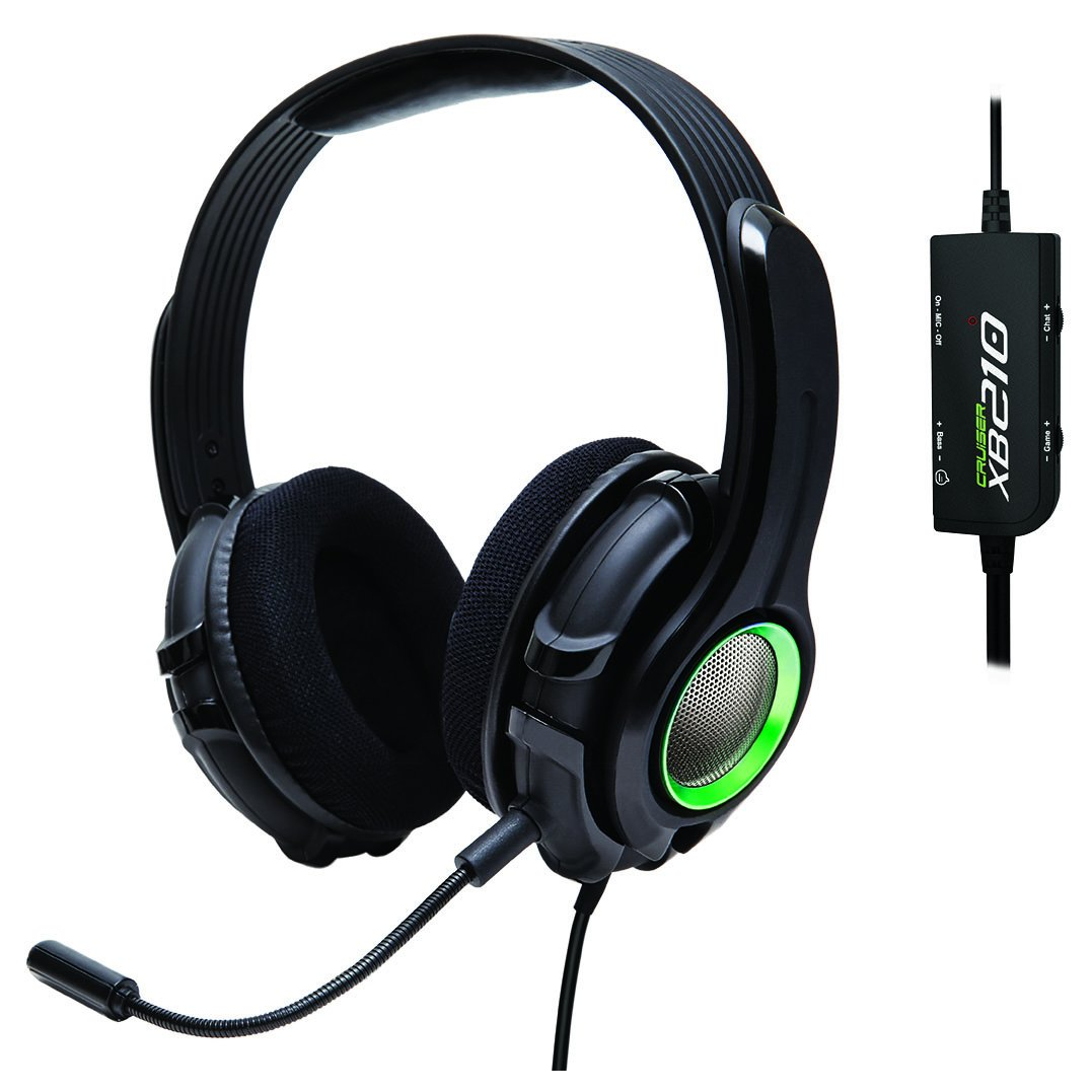 GamesterGear Cruiser XB210 Bass Quake Stereo Gaming Headset with Detachable Boom Mic for Xbox 360 by GamesterGear
