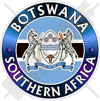 "Botswana Flag African car bumper sticker decal 5/"" x 3/"""