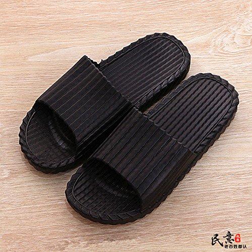 de Zapatillas de de espuma y suave suela mujer piscina zapatos YMFIE negro baño zapatos con para qXwzXgd