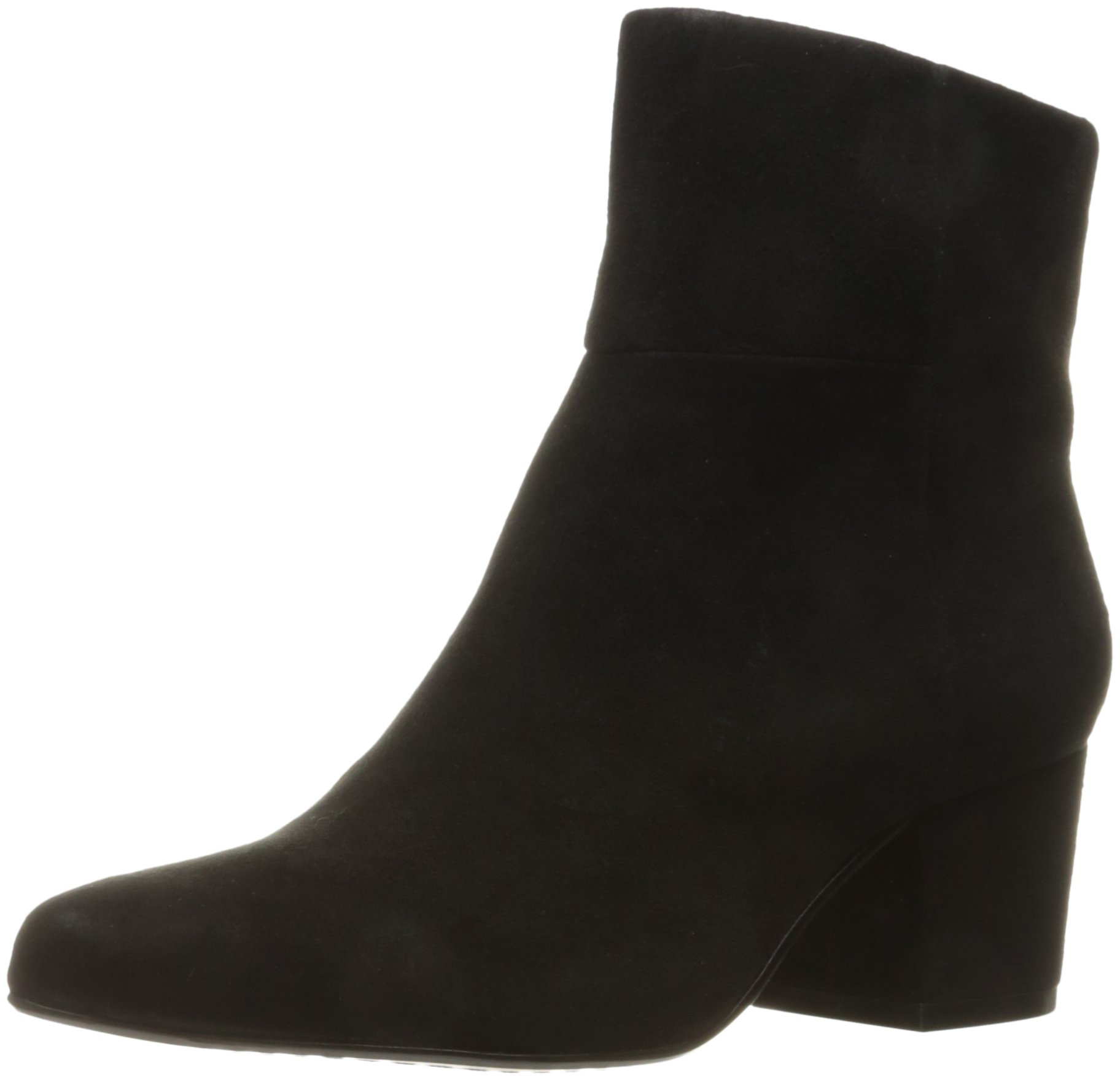 STEVEN by Steve Madden Women's Wes Ankle Bootie, Black Suede, 7.5 M US
